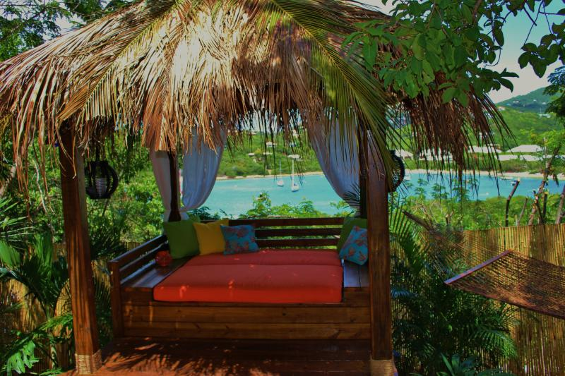 Thatch roof cabana with daytime bed for relaxing etc! - Coconut Cottage  - St John - Cruz Bay - rentals