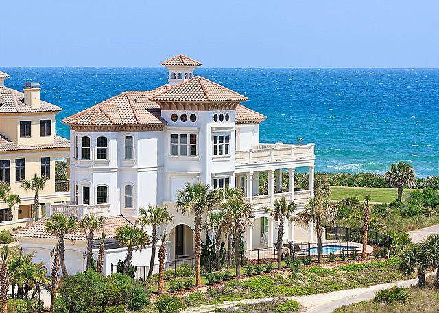 Enjoy the ocean front beach vacation of your dreams - Hammock Beach Mansion OceanFront 6 Bedrooms, Elevator, Private Pool, HDTVs - Palm Coast - rentals