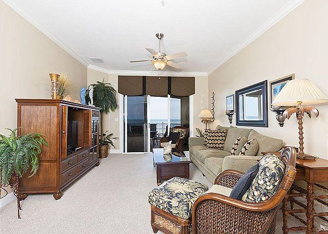 Our spacious condo has lovely views! - 544 Cinnamon Beach Front, 4th Floor, Large Patio, Rocking Chairs, Wifi - Palm Coast - rentals