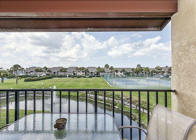 """A panoramic view from your balcony at Colony Reef 18C! - Colony Reef 18C, Tennis Villas, Heated Pool, 50"""" HDTV - Saint Augustine - rentals"""