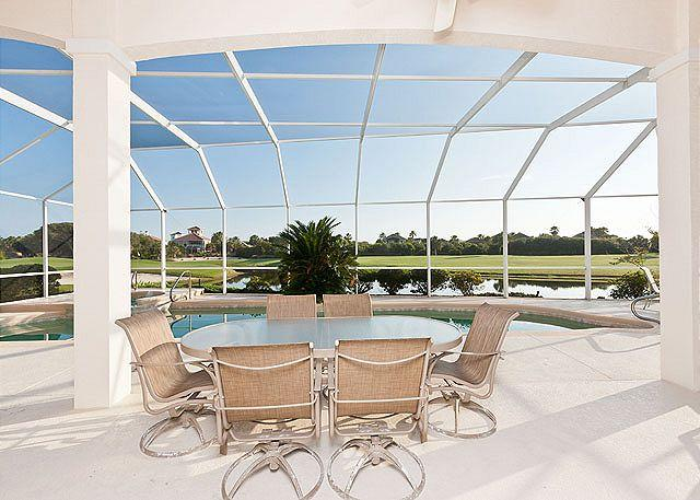 Come take in the beauty of our lanai - Ocean Hammock Bahama Mama, Private Heated Pool & Spa, Golf Views - Palm Coast - rentals