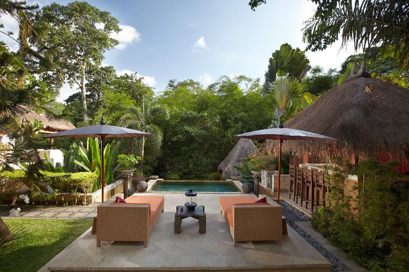Red Palms Villa, Bali, from Upper Pool - Villa Red Palms River Retreat near Seminyak Bali - Kerobokan - rentals
