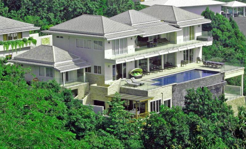 View of Villa facing the sea.  All rooms have fantastic views - IslandView Villa - Choeng Mon - rentals