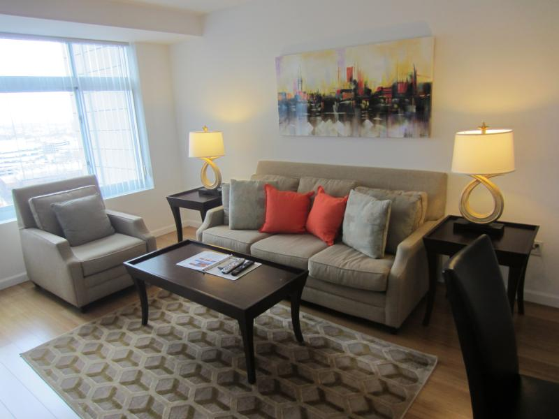 Living room - Lux 1BR Cambridge Apt by MIT - Cambridge - rentals