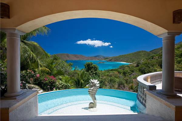 Enjoy the view from the pool at this villa compound all day long!	 MAS DEL - Image 1 - Saint John - rentals