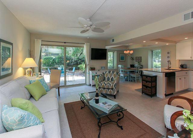 Living Area - 1752 Bluff Villa-Fully Renovated & Beach Chic - Hilton Head - rentals