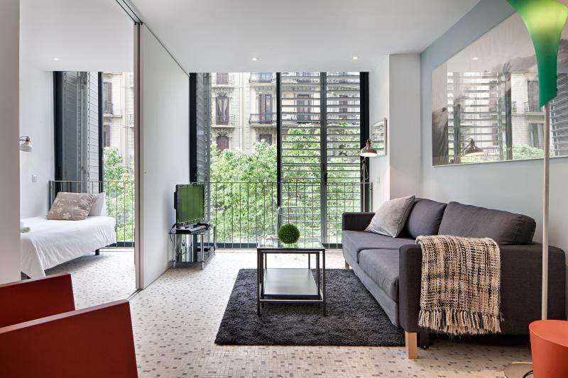 Living room - Pedrera apartment, best location in Barcelona - Barcelona - rentals