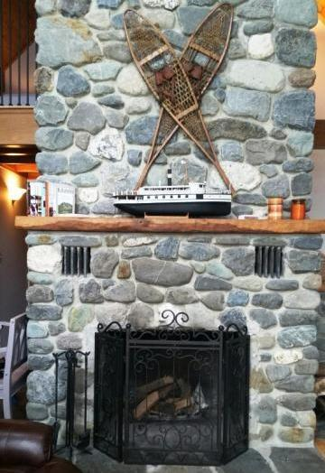 #102 Luxurious new chalet-style home on Moosehead Lake with large stone - Image 1 - Greenville - rentals