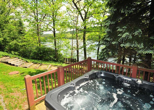 Hot Tub - Lakefront 5 Bedroom w/Dock Slip: The Perfect Deep Creek Home for Relaxation! - Swanton - rentals