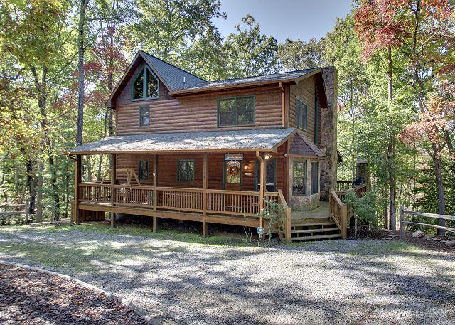 Front View of Serenity - Nestled in the North Georgia Mountains with your family in mind. - Mineral Bluff - rentals