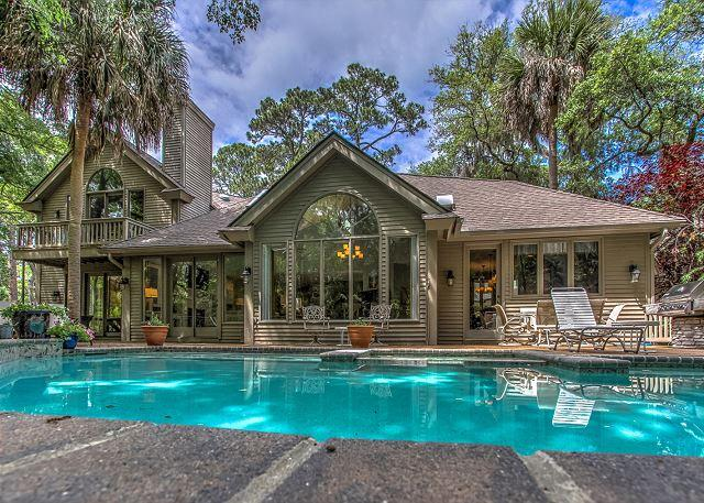 Exterior - 12 Snowy Egret-4th Row Ocean, Large Pool & Newly Updated. - Hilton Head - rentals