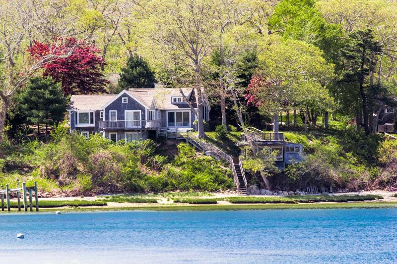 Location, location, Waterfront on the Lagoon - MSZAM - Lovley Waterfront Retreat,  Spectacular Water Views, Multiple Decks, Open Main Living Level, Mooring Available in Front of House - Vineyard Haven - rentals