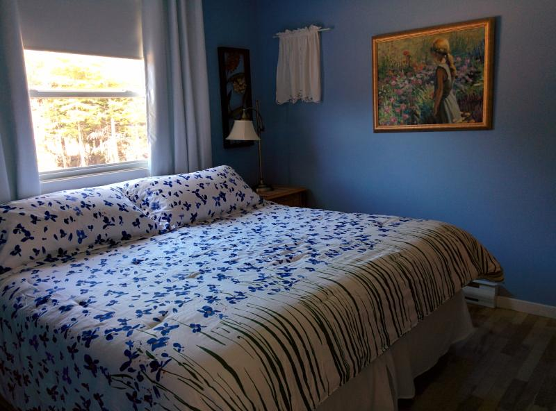 king size bed in master - 2 bedroom cottage at beautiful Stanhope Beach - Stanhope - rentals