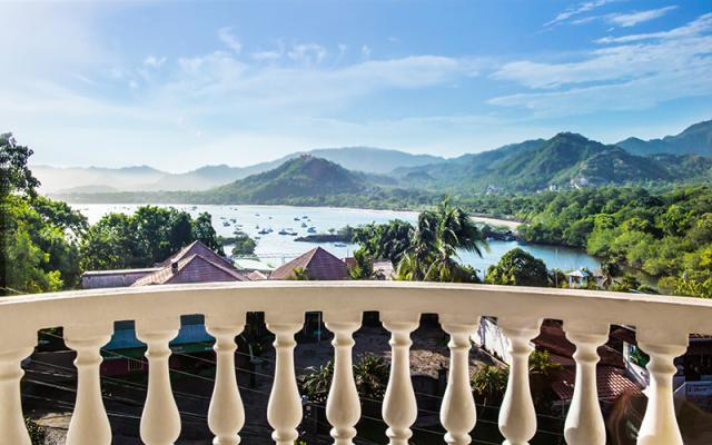 Balcony View of the ocean and mountains - Flamingo Marina Real condo 231 - Playa Flamingo - rentals