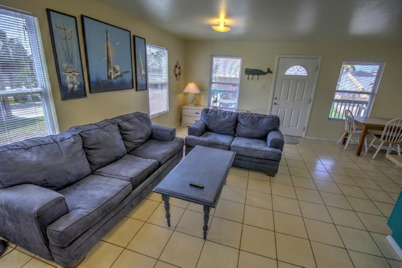 Our open & airy living room - #2 at Oleander Beach Lodge - South Padre Island - rentals