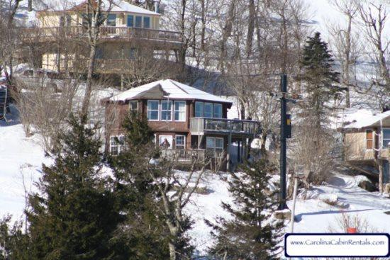 4BR Ski Cabin on the Slopes, Endless Views, Gas Log Fireplace, Ski In Ski Out - Image 1 - Beech Mountain - rentals