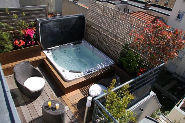 Outdoor Jacuzzi - 5 BD/9 guests Luxury Apt with terrace and Jacuzzi, - Paris - rentals