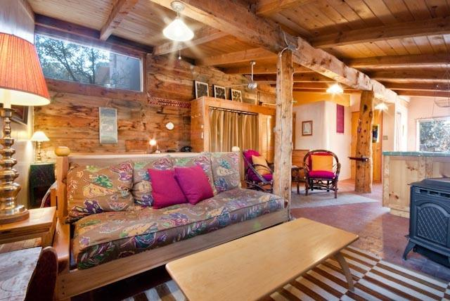 Sun Room, living area - Suitable Digs: cool green lodgings in Santa Fe - Santa Fe - rentals