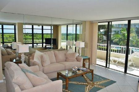 Living Room - Pretty Condo with lovely beach views from the large wrap balcony - Marco Island - rentals