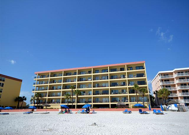 Las Brisas 202 - Gulf Front Three Bedroom, Two Bath Condo with Pool and BBQ! - Image 1 - Madeira Beach - rentals