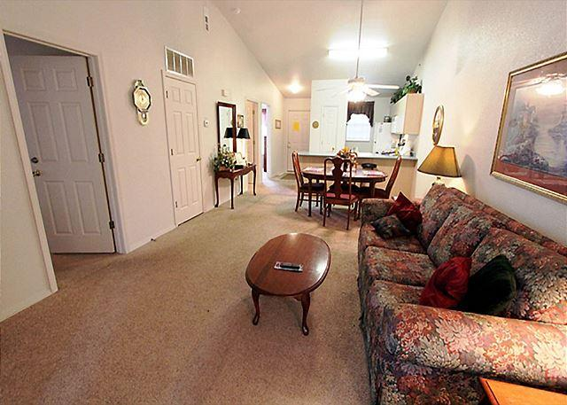 Living Room - Master's Fall In- 2 Bedroom, 2 Bath Condo at Fall Creek Resort - Branson - rentals