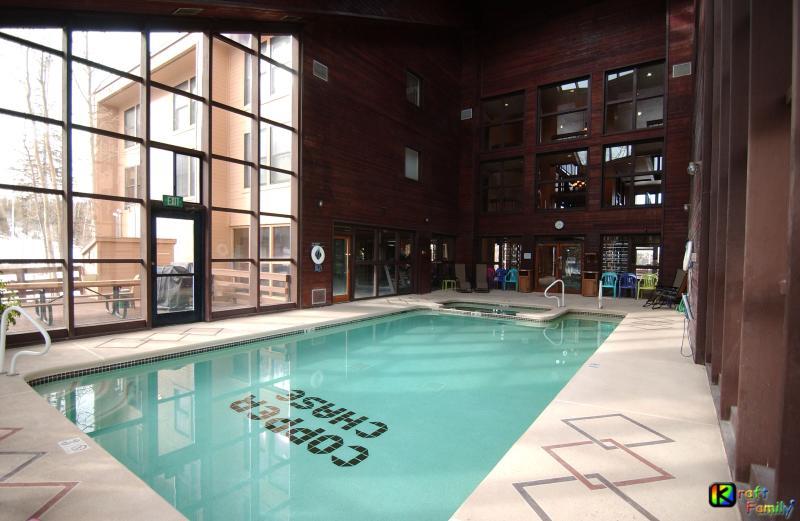 Solarium pool/Jacuzzi adjacent to deck with 2 BBQs & separate male/female saunas - Brian Head Royal Vista I, Pool & Hot-Tub, Ski-I/O - Brian Head - rentals