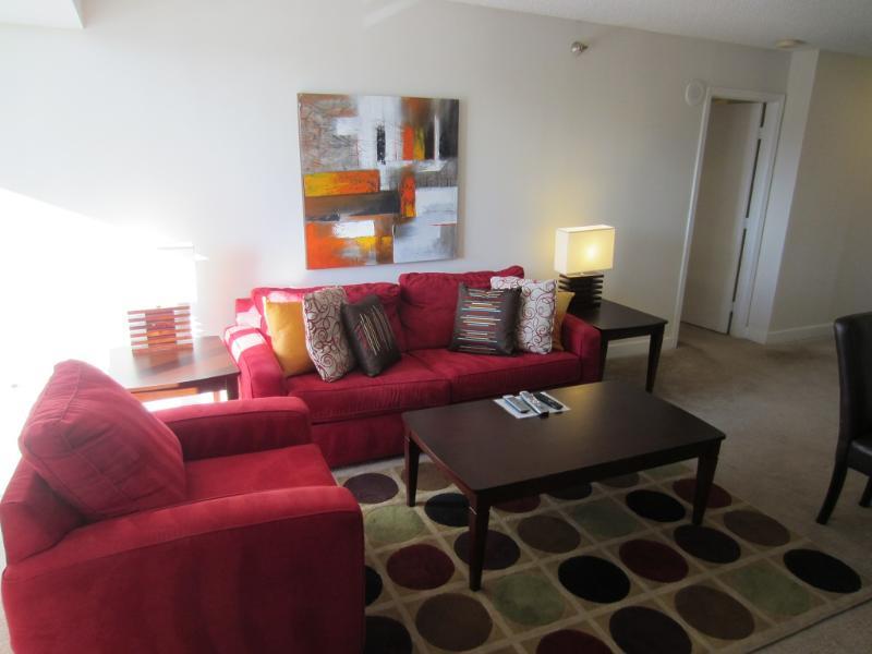 Living room - Lux 2BR w/ balc near Bethesda Row - Bethesda - rentals