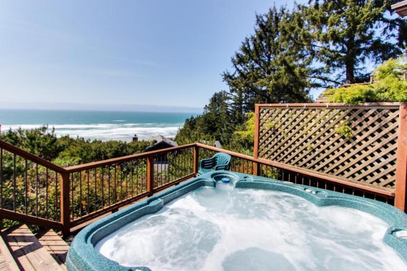 Charming beach house w/private hot tub & stellar ocean view! - Image 1 - Manzanita - rentals