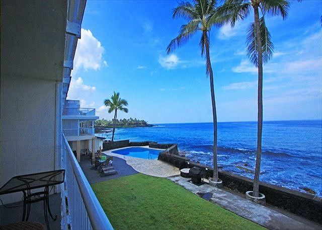 Direct Oceanfront Living! - KMS209  DIRECT OCEANFRONT, 2nd floor, GORGEOUS! - Kailua-Kona - rentals