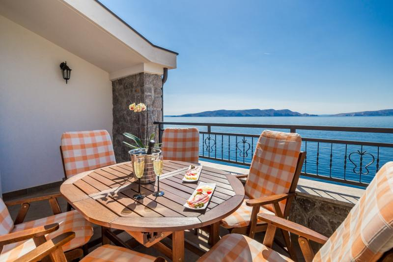 Villa Arca Adriatica, relaxing abiance on balcony, amazing sea view - Villa Arca Adriatica****Sea View Apartment Gajeta - Senj - rentals