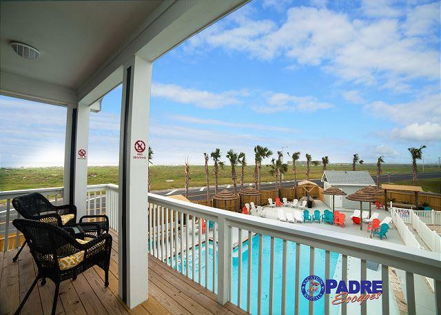 Second balcony with pool view and view of the gulf - Padre Beach View is the new Premier Vacation Destination on Padre Island - Corpus Christi - rentals