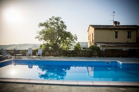pool in early morning - Il casale di Aurora Country villa,Haven Of Peace A - Colmurano - rentals