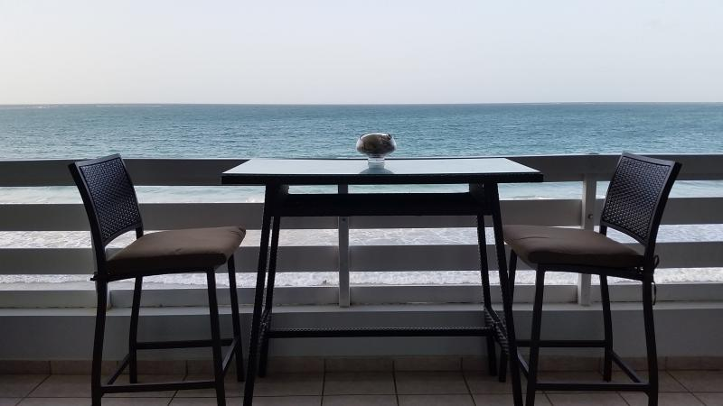 View from the living room!!! - Truly Oceanfront Condo in Luquillo, Puerto Rico - Luquillo - rentals