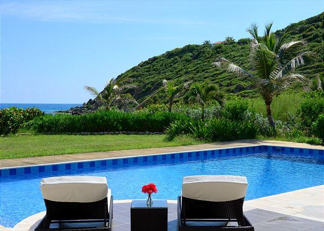 Lovely 45.9' x 20.5' private pool  - Venus: Impressive 5 bedroom and 5.5 bathroom on the beach | Island Properties - Saint Martin-Sint Maarten - rentals