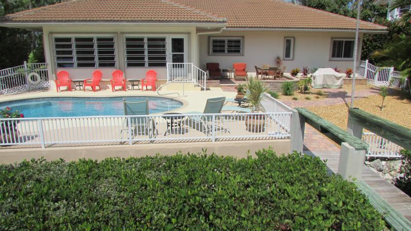 Pool/Lounging Area - Lots of Seating in Sun or Shade - Tropical Pool Home-Book now for Christmas!! - Key Colony Beach - rentals