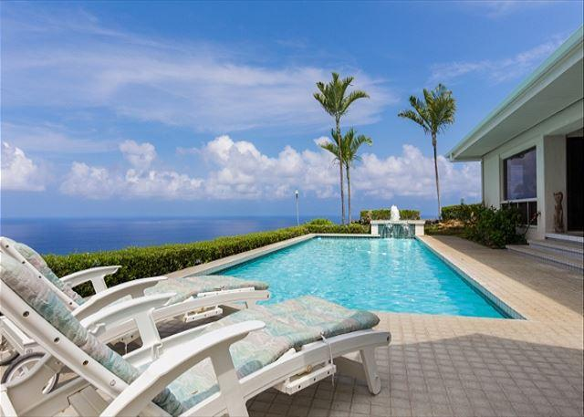 Lounge Poolside with Fantastic Ocean Views - Keauhou Estates Eono -Amazing ocean views from your private pool and lanai! - Kailua-Kona - rentals