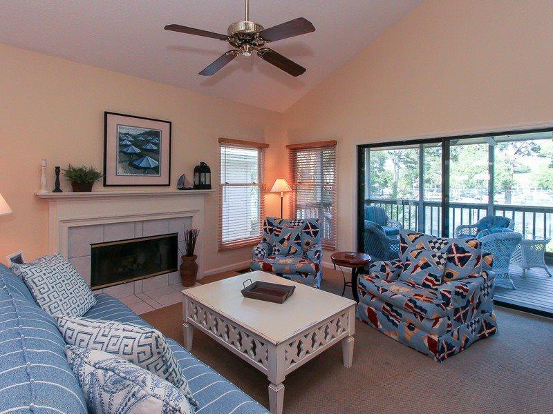 Living Room at 6 Beachside - 6 Beachside - Hilton Head - rentals