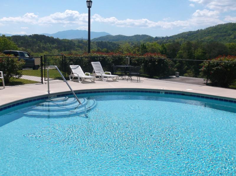 swimming pool with mountain views - 2 bedroom condo with mountain views - Pigeon Forge - rentals