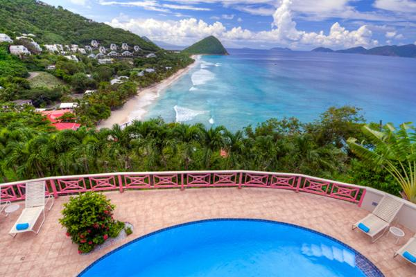 Nestled in lush hills above Long Bay, this villa has spectacular ocean views. KLG SUN - Image 1 - Long Bay - rentals
