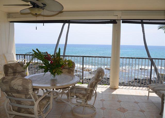 Spacious 2 bedroom Oceanfront condo w/ Airconditioning, amazing ocean views - Image 1 - Kailua-Kona - rentals