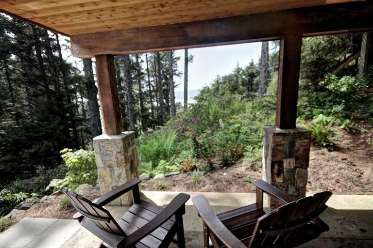 West Patio View - Arcadia Lodge - Cannon Beach - rentals