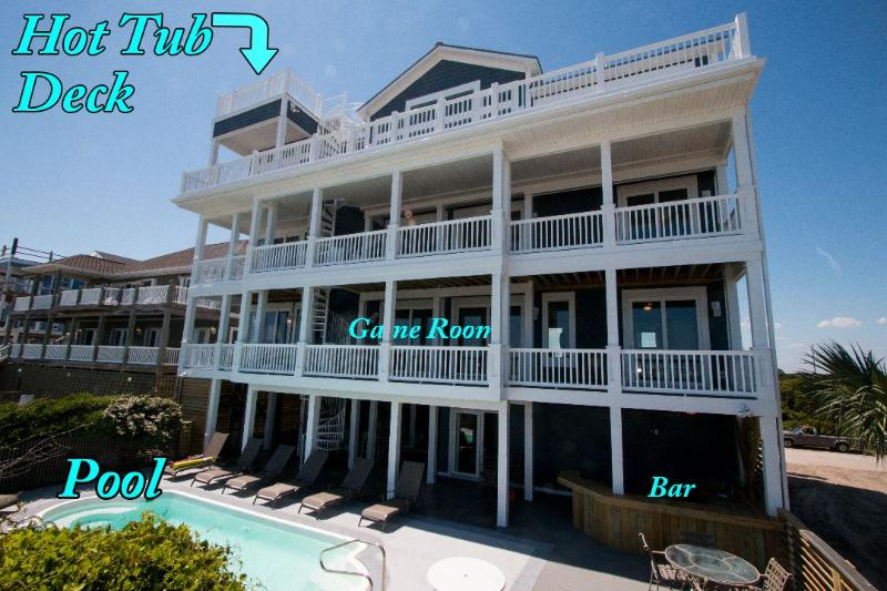 114 Oceanview Lane - Ocean View Ln 114 -10BR_SFH_OF_28 - North Topsail Beach - rentals