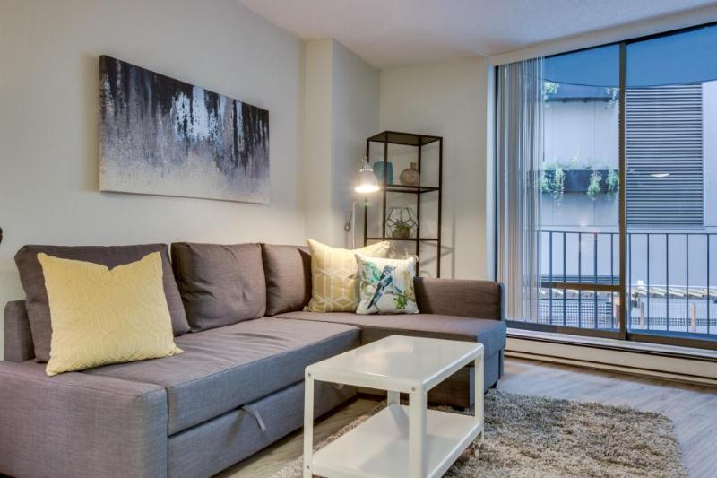 Stylish Seattle flat w/pool & sauna, walk to Pike Place! - Image 1 - Seattle - rentals