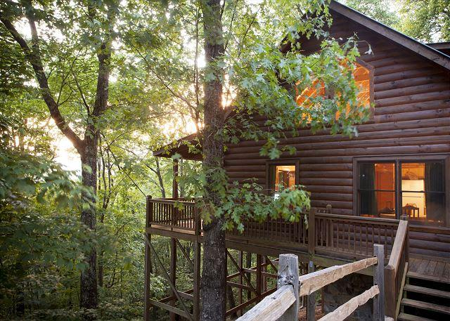 VIEW SIDE - 2 bedroom Stacked Log Cabin in North Georgia - Cherry Log - rentals