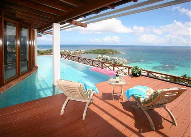 Beautiful Villa nestled in the Hillsides of Oyster Pond with great views - Image 1 - Saint Martin-Sint Maarten - rentals