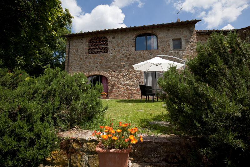view of the house from the lower garden - farmhouse, San Vincenzo a Torri chianti near Flor - Ginestra Fiorentina - rentals