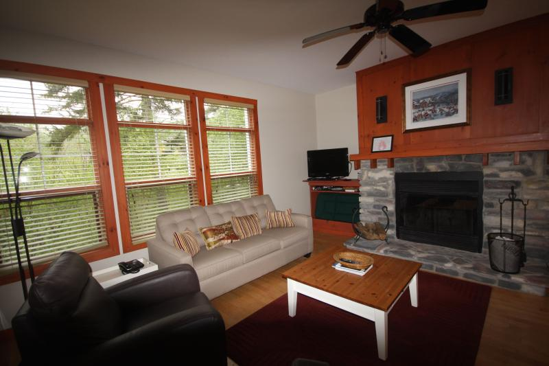 Living Room - Newly Renovated 3 Bdrm, 2 Bath  Condo at Tremblant - Mont Tremblant - rentals