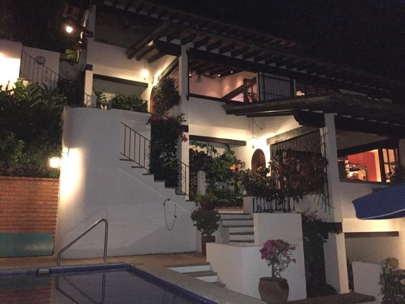Five casitas, one per floor, climbing the hillside - Suite Casita above Zona Romantica in Old Town - Puerto Vallarta - rentals