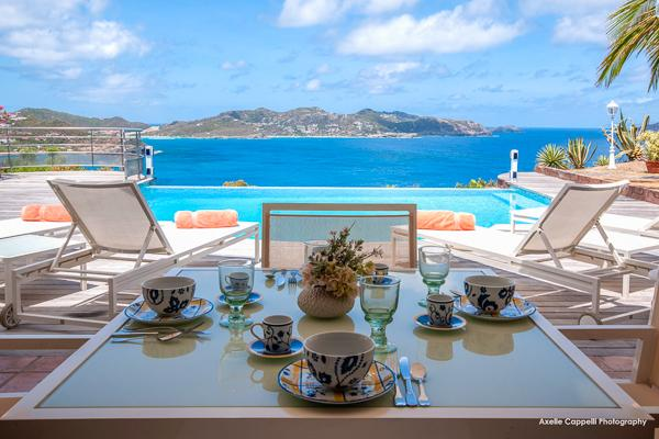 Spacious villa with a large terrace for enjoying the ocean view	 WV DOR - Image 1 - Pointe Milou - rentals