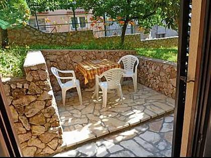 A Studio(3) : garden terrace - 5267 A Studio(3)  - Njivice - Njivice - rentals